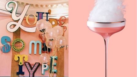 Left: Drink, Shop & Do, Right: a cocktail from Tonight Josephine's Valentine's menu.