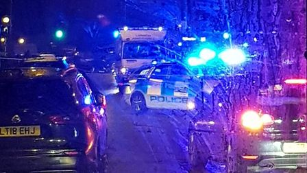 The scene of an accident in East Finchley. Picture: Maria LL Joao