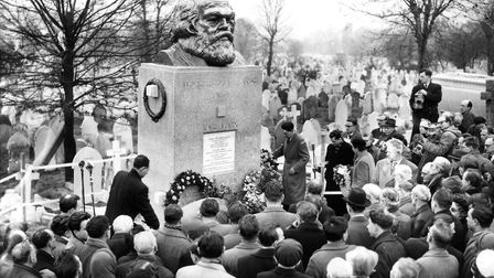The unveiling of the famous Karl Marx grave, in 1956