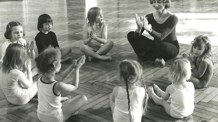 Patricia Woodall who founded the UK Chantraine dance school. teaching children. Picture: Chantraine
