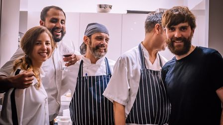 Josh Owens-Baigler (furthest right) is the owner of the new venture on Dalston Lane.
