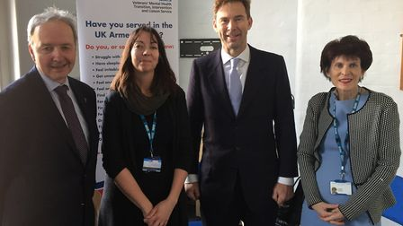 Tobias Ellwood MP visits staff and veterans at Camden and Islington NHS Trust. Picture: Camden and I