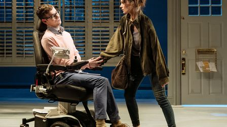 Jack Hunter and Emily Barber in Cost of Living at Hampstead Theatre picture by Manuel Harlan