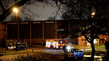 Fire engines at the Britannia Leisure Centre. Picture: Polly Hancock