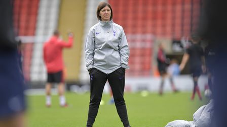 Tottenham Hotspur Ladies manager Karen Hills at Leigh Sports Village (pic: Wu's Photography).