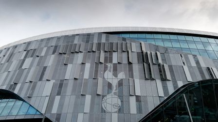 A design of Tottenham Hotspur's badge outside the club's new stadium (pic: John Walton/PA Images).