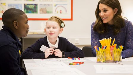 The Duchess of Cambridge is a champion of more mental health support in schools. Photo by Place2Be