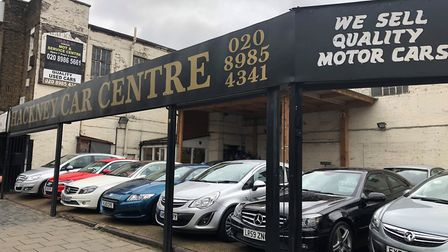 Hackney Car Centre in Mare Street. Picture: Richard Assheton