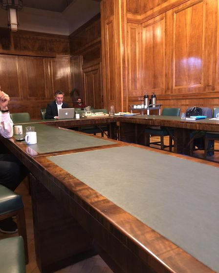 Not many councillors turned up to the eco energy conference in Hackney Town Hall. Picture: Emma Bart