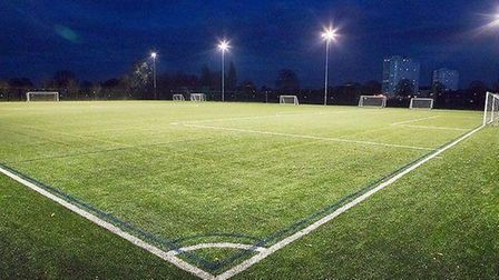 A view of the pitch at the College of Haringey, Enfield and North East London (CONEL)