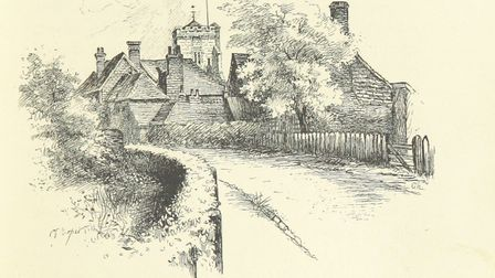 The road from London to Brighton past Crawley. Picture: British Library