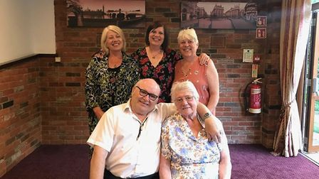 June Perrin with her family on her and her husband Frank's Golden Wedding anniversary in June 2018.