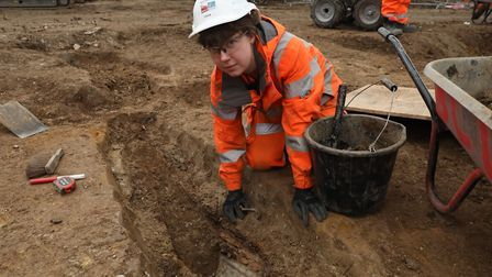 The archaeological excavation and research works at St James's Gardens, Euston. Picture: James O'Jen