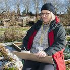 Chrstine Nicholls at Highgate Allotments picture by Nigel Sutton