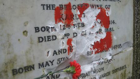 The marble tablet bearing Karl Marx's name has been targeted again, with vandals smashing his name f
