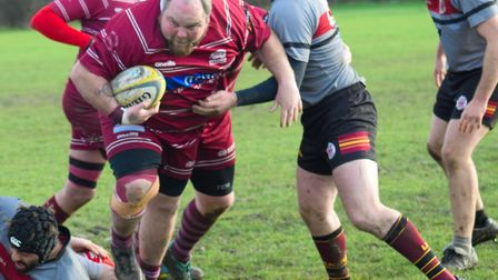 Action from UCS Old Boys against Hitchin in Herts/Middlesex One (pic: Hitchin RFC)