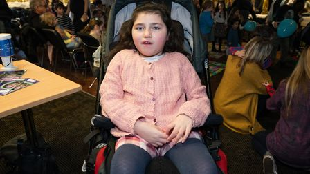 Lotta Beiny, 10, at the fundraiser. Picture: Siorna Ashby