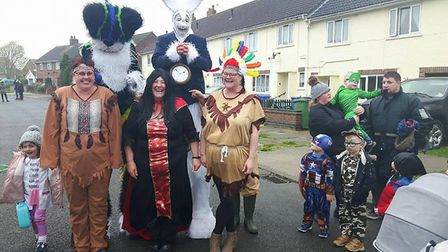 Tedder Road residents enjoy their street party. Picture: Courtesy of Waveney District Council