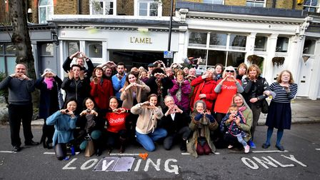 """Traders and residents of South End Green turn the loading bay outside Amberden Estates into a """"Lovin"""