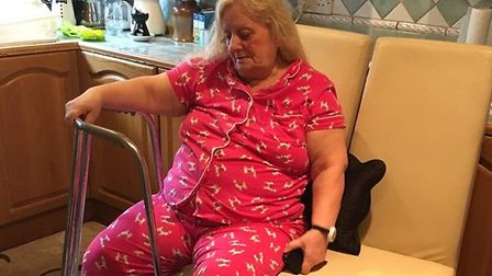 Melek Kerr was also left stuck after her stairlift broke this week. Picture: Samantha Grace