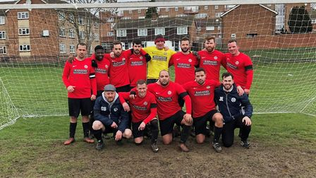 Highgate Albion players face the camera before their match with North London Colts (pic: John Eager)