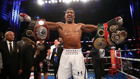 Anthony Joshua will defend his heavyweight world titles against Jarrell Miller in New York on June 1