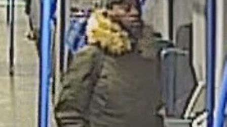 The British Transport Police are looking to speak to this man about a sexual offence on a Thameslink