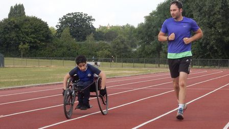 Highgate Harriers running an athletics session for disabled people. Picture: Highgate Harriers