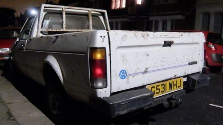 Gary Sycamore's Volkswagen Golf Caddy pick-up truck was stolen. Picture: Gary Sycamore