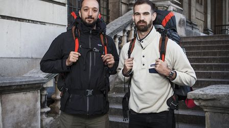 Felix and Josh who took part in the BBC2 show Race Around the World