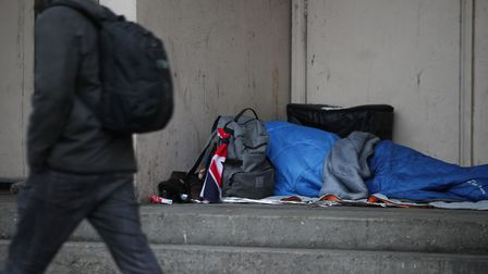 A person sleeping rough in a London doorway. Picture: Yui Mok/PA Wire