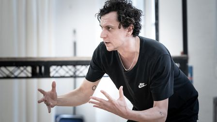 Richard III iin rehearsals with Tom Mothersdale as Richard picture by Marc Brenner