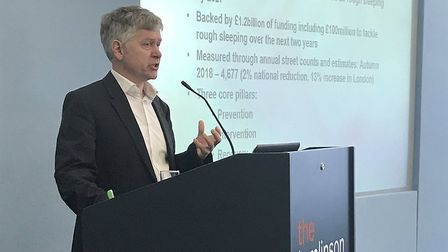 Jeremy Swain speaks at the summit. Picture: Hackney Council