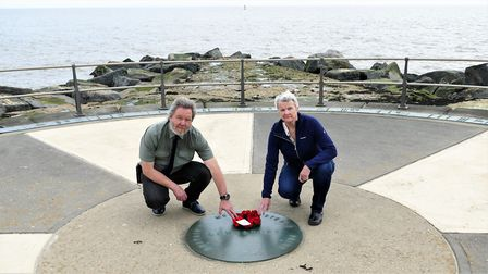 The niece of Eberhard Pleiss, Nicky Frowen, visits Lowestoft 75 years on from his death. She was inv
