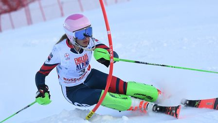 Highgate's Giselle Gorringe won overall gold at the English Alpine Championships (pic Neil McQuoid)