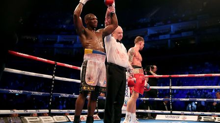 Brian Lawrence was ringside as Andre Sterling (left) beat Ricky Summers at The O2 on Saturday (pic: