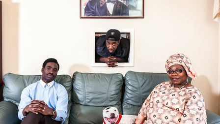Joe Ogunmokun, his mother Adebimpe and brother Michael From Nigeria. Picture: Chris Steele-Perkins.