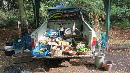 Gary's van partially loaded - now it's been stolen he's not sure how he'll transport produce to mark