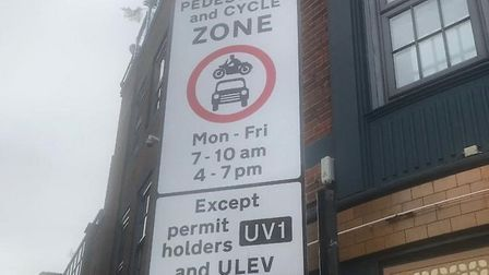 Most cabbies cannot use some roads around Shoreditch and Old Street during peak hours. Picture: LTPR