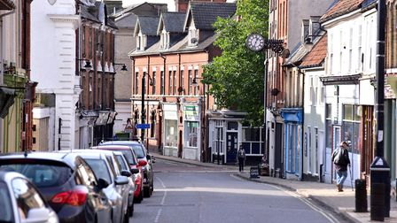 Lowestoft High Street and Scores, one of the UK's Heritage Action Zones. Picture: Nick Butcher
