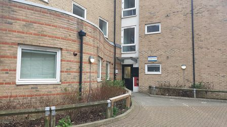 The Sandale Close building, near where the bomb was found. Picture: Harry Taylor