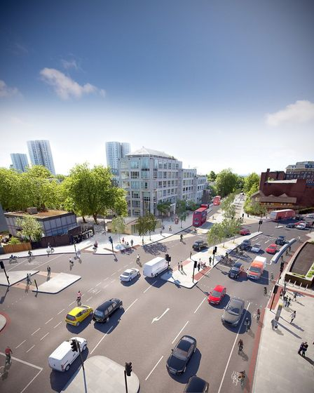 An artist's impression of CS11 at Swiss Cottage. Picture: TfL