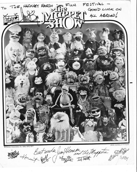 The entire cast of the Muppets came to Chat's Palace to perform a Vaudeville show, and then signed a