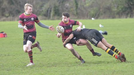 UCS Old Boys in action against Wasps in Herts/Middlesex One (pic: Nick Cook)