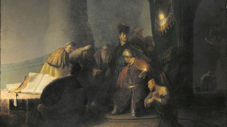Judas Returning The 30 Pieces of Silver by Rembrandt van Rijn (1629) Private Collection. Photograph