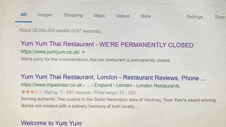 Hackers made it look like Yum Yum was now permanently closed.