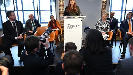 Labour MP Luciana Berger who has announced her resignation during a press conference at County Hall