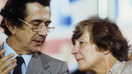 Founder members Bill Rodgers and Shirley Williams at the Social Democratic Party's first conference.