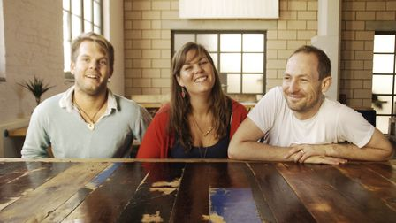 Siblings Tom and Jess Seaton (left and middle) are directors of Crate alongside Neil Hinchley.