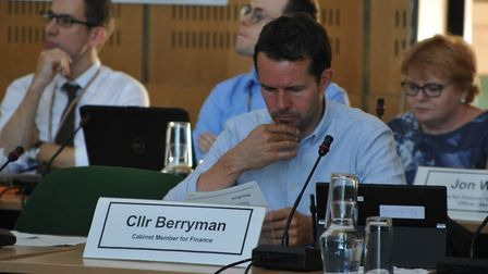 Cllr Pat Berryman at a Haringey cabinet meeting in 2018. Picture: David Winskill